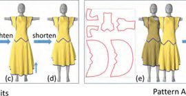Physics-driven pattern adjustment for direct 3D garment editing